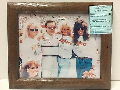 Vintage Hooters Photo Of Alan Kulwicki From District Court Case-Rare Find!