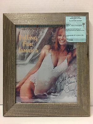Vintage Hooters Photo Signed By Cheryl Tiegs From District Court Case-Rare Find!