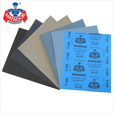 Wet And Dry Sandpaper 120 - 10000 Grit Abrasive Sanding Paper Sheets Waterproof
