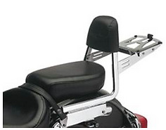 Sissy bar with back rest and rack for Keeway superlight 125