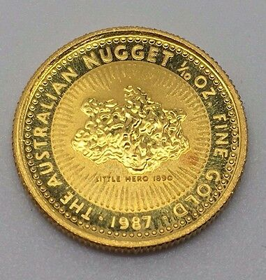 1987 Australian Gold $15 Dollars Nugget Coin Free Shipping