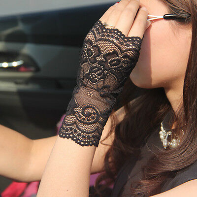 Lace Fingerless Gloves Burlesque Clubwear Party Sunscreen Anti-uv Lace Gloves