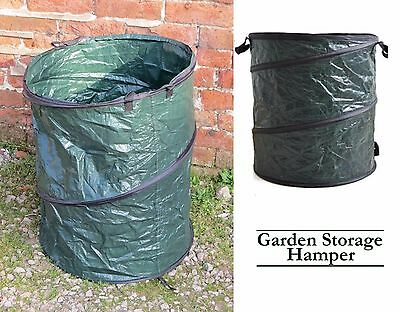 Heavy Duty Garden Waste Leaves Weeds Bin Bag Carry Fordable Lightweight Sack New