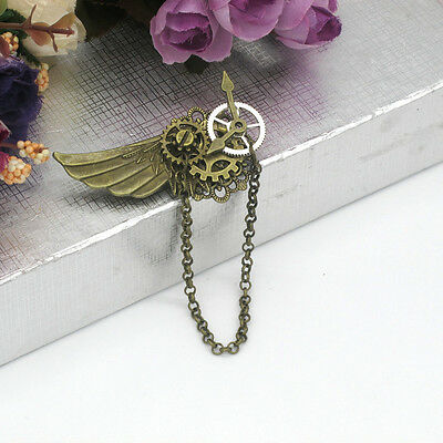 Brooch Vintage 1pc Steampunk Gear Wing Pattern  Medieval Victorian Breastpin