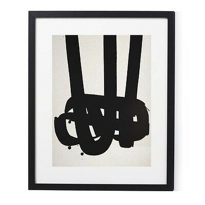 "Pierre Soulages Surrealist Mid Century Fine Art Framed Print 20"" x 16"""