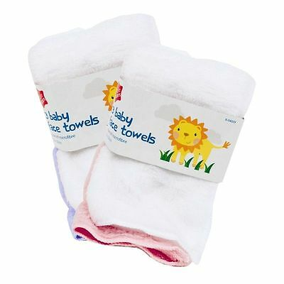 3 Pcs Pack Soft Baby Face Towels Bath Flannel Wash Cloth Wipe - Assorted Colour