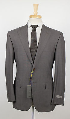 NWT CANALI 1934 Brown Striped Wool 2 Button Suit Size 48/38 S $1995