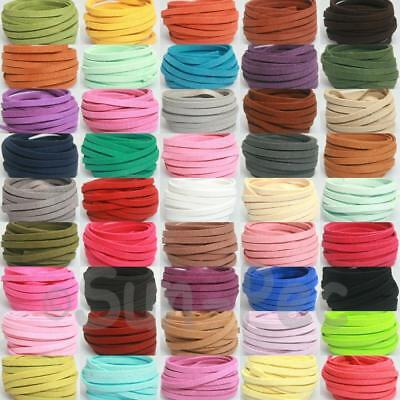 Soft Flat 5mm 1yd Faux Suede Leather Lace DIY Jewellery Crafts Repair Cord Thong