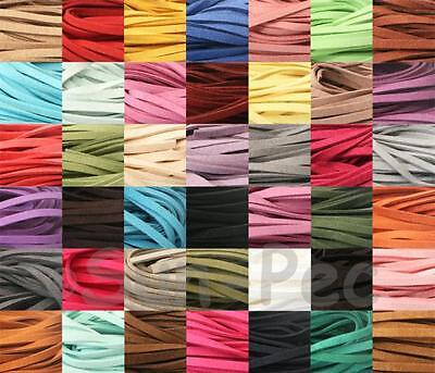 Soft Faux Suede 5mm/8mm x 1yd Leather Lace Flat Rope Cord Jewelry Leather Crafts