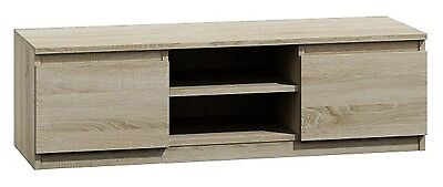 120cm TV Unit in Light Oak. Provides Plenty of Storage Space with 2 Cupboards
