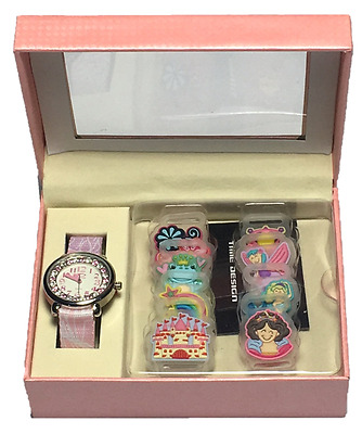 Time Design Girls Fairy Tale Kids Watch & Changeable Fairytale Charms Gift Set