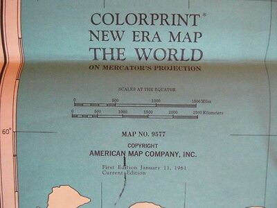 American Map Company Inc.First Edition Colorprint New Era Map The World On Mercator S