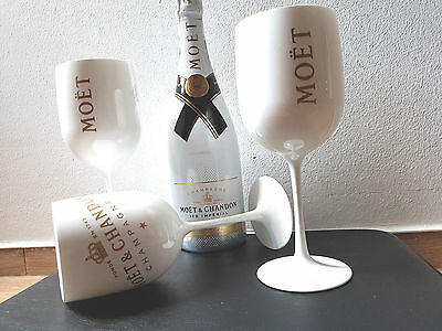 1x Moet & Chandon Ice Imperial Champagner Glas Acryl Becher Limited Edition