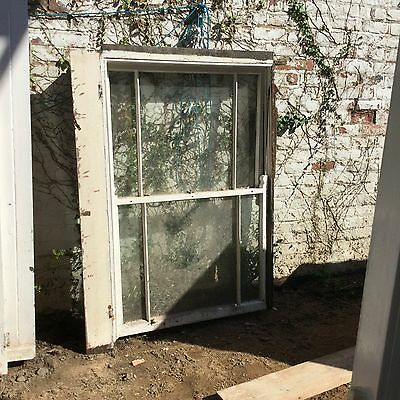 Reclaimed Sash Window / Victorian / With Working Shutters 112cm x 176cm