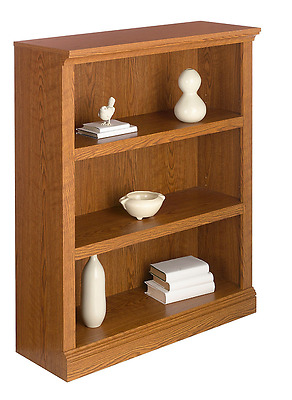 Realspace Premium Bookcase, 3-Shelf, Carolina Oak (491630)