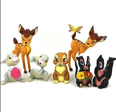 7 pcs set Disney Bambi Thumper Flower BAMBI RABBIT BUNNY Figure Toy Cake topper