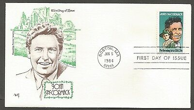 US FDC 1984 JOHN McCORMACK 20C STAMP MARG CACHET FIRST DAY OF ISSUE COVER