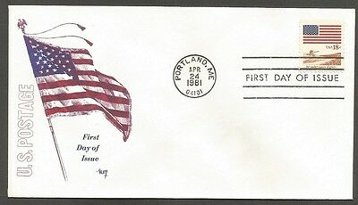 Us Fdc 1981 Flag 18C Stamp #1890 Marg Cachet First Day Of Issue Cover