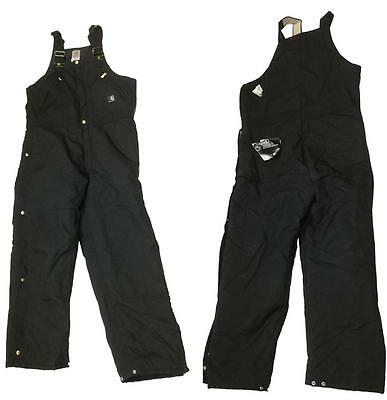 Mens Carhartt R33 BLK Arctic Insulated Water Resistant Bib Overalls 34 x 30 NEW