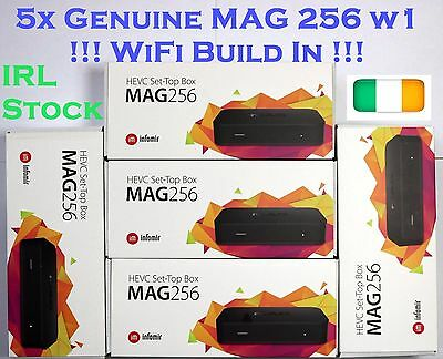 5x Genuine MAG256 w1 Mag 256 WiFi Build in, HDMI, Original Box Made By Infomir
