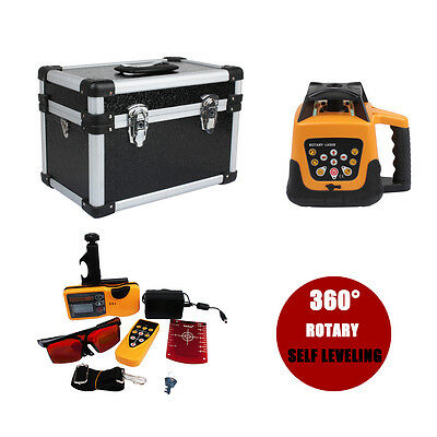Self-leveling Rotary/ Rotating RED Laser Level Kit With Case 500M Range