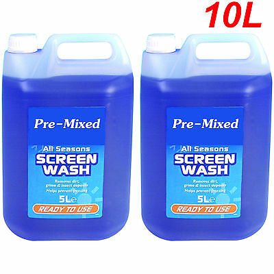 5L x 2PK CONCENTRATED SCREEN WASH ALL SEASONS READY TO USE CAR VEHICLE VAN FLUID