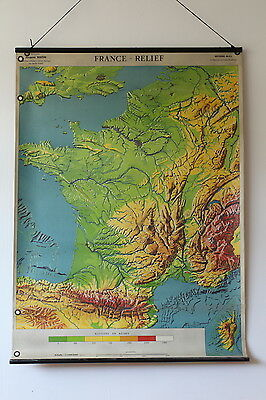 Large vintage map of France - editions M.D.I. - Collection Jacques Bertin