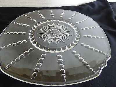"""Federal depression """"Columbia"""" platter or cake plate  11"""""""