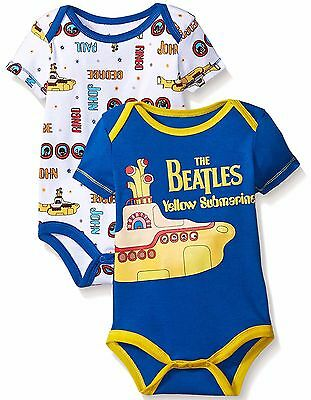 Baby Boys' Beatles 2-Pack Bodysuit Yellow Submarine