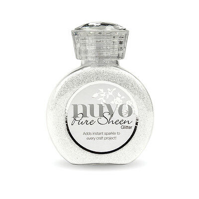 Nuvo Pure Sheen Glitter 3.38 oz Ice White NPSG-721