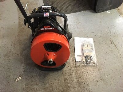 """General Wire Mini-Rooter Power Drain Cleaner MRP-B 3/8"""" x 75' - NEW,DISPLAY UNIT"""
