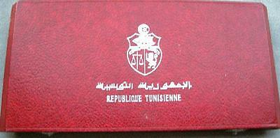 "Tunisia 1969 ""empty Red Box"" For The Silver 10 Coins Set ""scarce"" Big Price Cut"