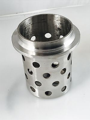"""PERFORATED FLASK 3-1/2""""x 5"""" CASTING FLASK VACUUM CASTING STAINLESS 1/8"""" WALL"""