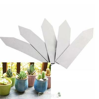 100Pcs 4 Inch Plastic Plant Pot Markers Labels Nursery Garden Stake Tags