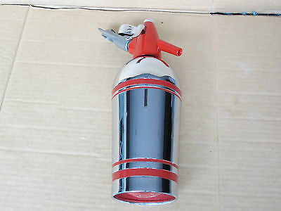 Vintage Retro 1960s Sparklets Streamline Deluxe Chrome & Red Soda Syphon