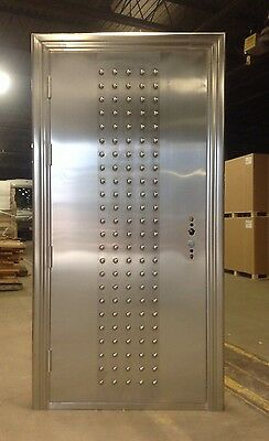 Stainless Steel Entry Door Including Frame and Hardware!  Made of 304 Stainless