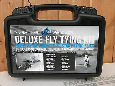 Deluxe Fly Tying Kit ~ New ~ Free Shipping