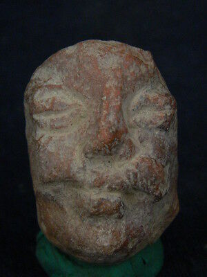 """Ancient Bactrian Teracotta Head C.300 Bc  """"""""t1072"""""""""""