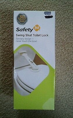 NEW Safety 1st Swing Shut Toilet Lock - Child Home Protection Latches
