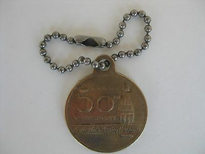 c.1950's Coca Cola 50th Anniversary Key Chain