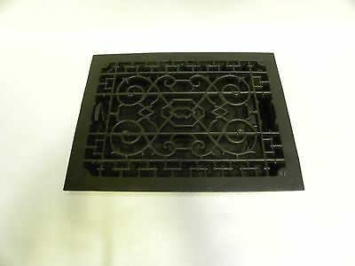 "Vtg Antique 9"" x 12"" Ornate Cast Iron Heating Grate Register Vent Cover (A20)"