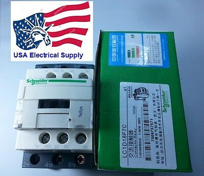 New Schneider LC1D18F7C Contactor  With Coil 110VAC 50/60Hz