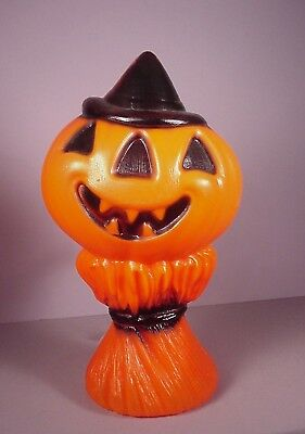"Empire Halloween plastic Light 14"" JOL on Cornstalk blow mold Pumpkin blowmold"