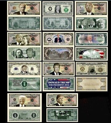 Lot Of 10 Donald Trump 2016-2017 President Victory Million Dollar Bills