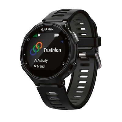 NEW Garmin Forerunner 735XT GPS Multisport Watch, Black Grey from Rebel Sport