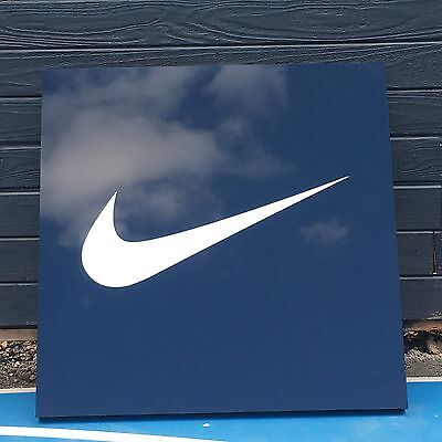 Nike Wall Hanger Nike Wall Advertisement Man Cave Basketball Skateboarding Sign