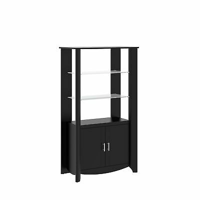 Bush MY16992-03 Aero Tall Library Storage Cabinet with Doors