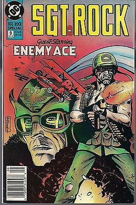 "Sgt Rock Special #9 Dc '90 Russ Heath Story + Enemy Ace ""killer Of The Skies"" Vf"