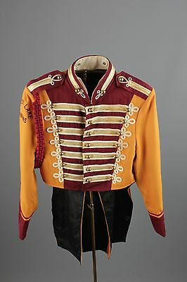 Vtg 60s Marching Band Uniform Jacket sz 36 1960s #2498 Sgt Peppers Brass Buttons