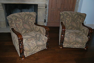 PAIR of Antique Solid wood Armchairs Louis XIII,XIV, XV, XVI
